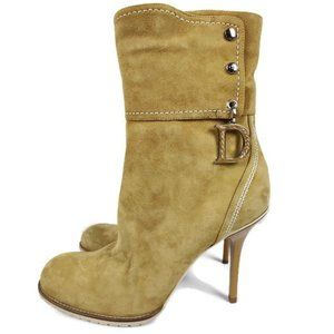 Dior Beige Clair Suede Ankle Boots. Size: 40/10